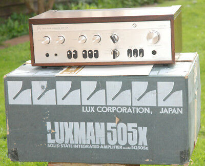 LUXMAN SQ505X STEREO Integrated Amplifier Solid State Integrated - Original Box
