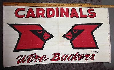 Vintage Cardinals Backers Woven Throw Rug