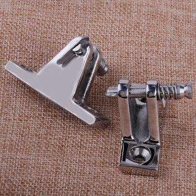 2 Stainless Steel Deck Hinge Boat Bimini Top Fitting Quick Release Pin 90 Degree