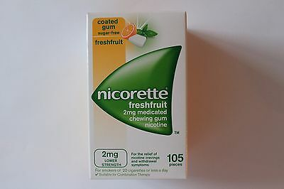 Nicorette Freshfruit 2mg Medicated Chewing Gum - 105 Pieces