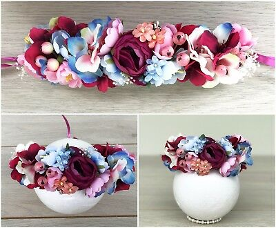 Newborn to 1 Year Old Baby Floral Crown - Flower Wreath - Photography Prop