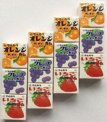Marukawa 3 Mixed Gum ×4 Orange Grape Strawberry From Japan