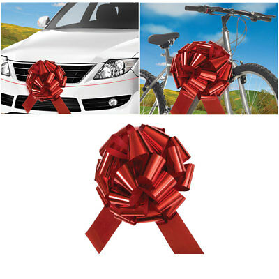 "18"" Giant Shiny Red Present Bow - Christmas & Birthday Gifts - For Cars & Bikes!"