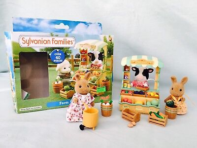 Vintage Rare Flair Sylvanian Families Farm Shop With Extras Boxed Vgc Htf