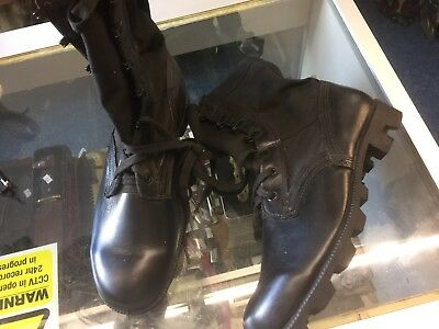 British Army Black Jungle Boots Uk Size 9 Regular Spike Protected