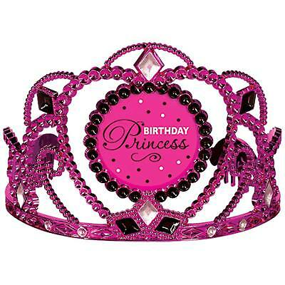 FANCY DRESS Black & Pink Birthday Princess Tiaras