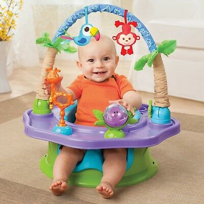 Summer Infant®  SuperSeat® Deluxe Island Giggles in Blue Activity Seat & Booster