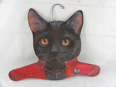 Annie Rinehart Stupell Animal Sandy Birenbaum Cat Coat Hanger USA