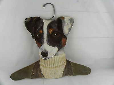 Annie Rinehart Stupell Animal Dog Terrier Coat Hanger USA