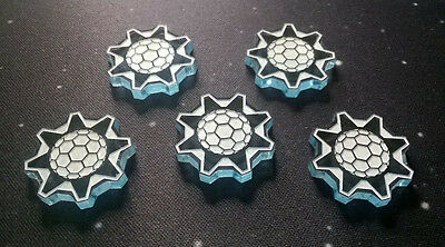 X-Wing Miniatures compatible, acrylic shield tokens (type 1) x 5
