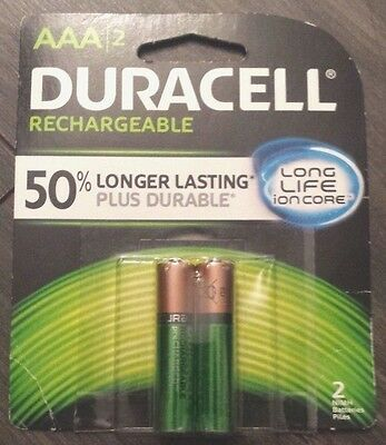 1 PACK Duracell Rechargeable AAA Batteries  ITEM IN CANADA
