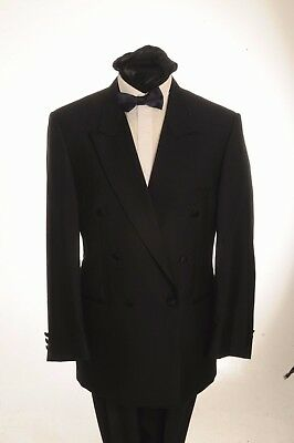 Dj-11 Mens Formal Bromley Double Breasted Dinner Suit, 2 Piece Suit,evening Wear