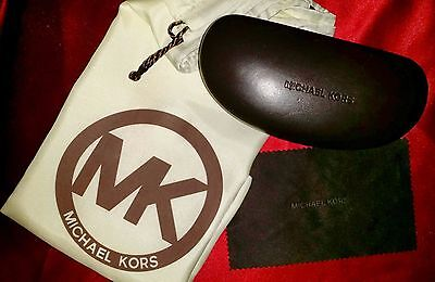 MICHAEL KORS Eyeglasses/Sunglasses Hard Case PLUS Storage Dust Bag + Cloth
