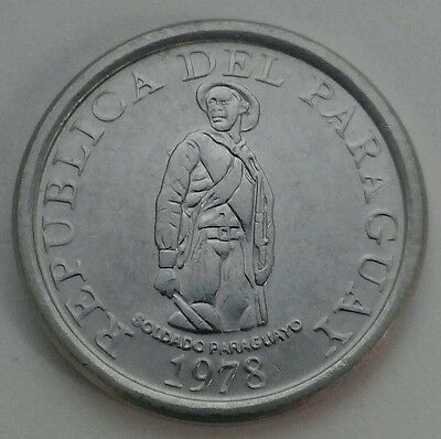 Paraguay 1 Guarani 1978. KM#165. F.A.O. Stainless Steel. One Dollar coin.
