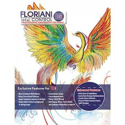 Floriani Total Control 7 Full version - Embroidery Software