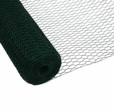 50m x 1.2m Green Galvanised Chicken Rabbit Wire Mesh Roll Woven Metal Fence