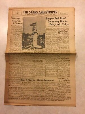 Stars and Stripes Newspaper Sep 9 1945 400000 Nazis May Be Tried As Criminals