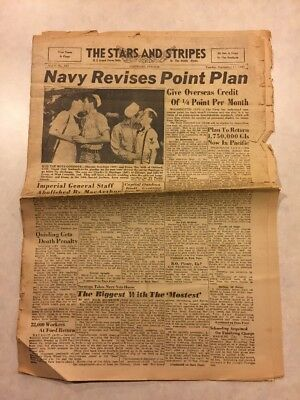 Stars and Stripes Newspaper Sep 11 1945 Imperial General Staff Abolished