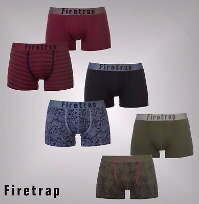 Mens Firetrap 2 Pack Comfortable Two Designs Trunks Underwear Sizes S-XXL