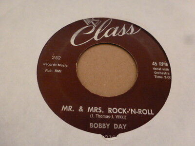Bobby Day Mr & Mrs . Rock-N-Roll Class 252 Original Excellent Rare