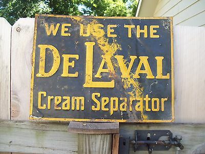 40's 50's 60's Original DeLaval Cream Separator Sign Made In USA