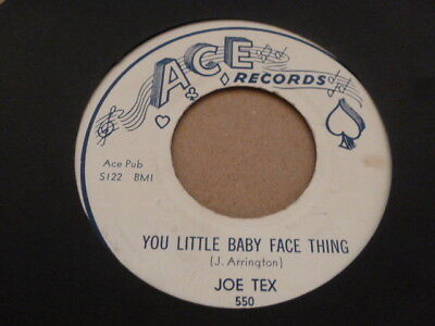 Joe Tex You Little Baby Face Thing Ace Records Original Excellent Rare