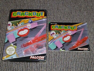 Nintendo Nes - Crackout - Box And Instructions Only