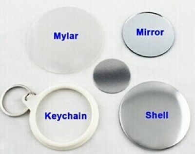 58mm 100sets Key Ring Mirror Back Button Parts Supplies For Button Maker