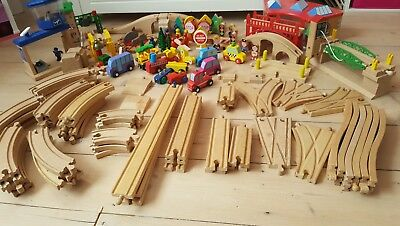 Brio and Janod wooden toy and train track mega bundle