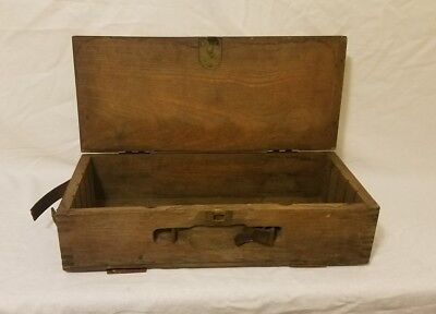WWl  Wood Ammo mortar Box Military Wooden Antique World War 1 side opening