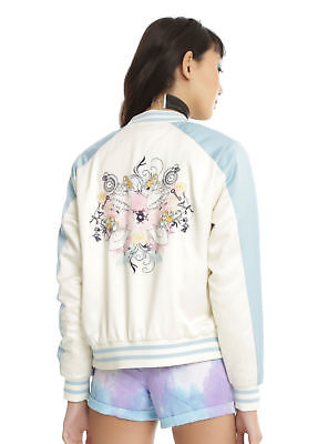 Disney Alice In Wonderland Satin Souvenir Bomber Jacket For Juniors