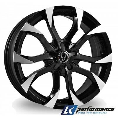 """18"""" Wolfrace Wheels To Fit Ford Transit 2001 On Load Rated Black Polished"""
