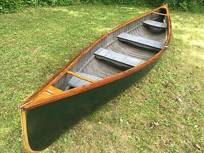 1924 Old Town Canoe Penobscot Bay Double end ender pea pod pulling boat rowing