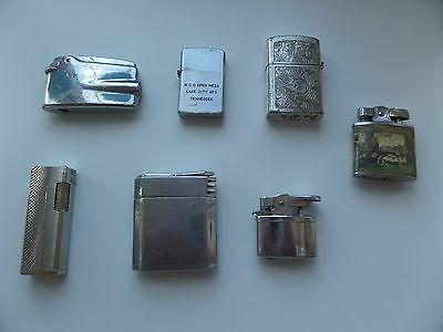 Vintage Lighters, Mixed Lot Of 7,ronson, Metro,magna,