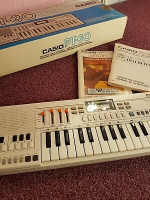 Casio Pt-30 Keyboard, Boxed With Instructions, Vgc