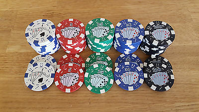 "1 Poker Chip Golf Ball Marker ""new, Putter, Driver, Irons."