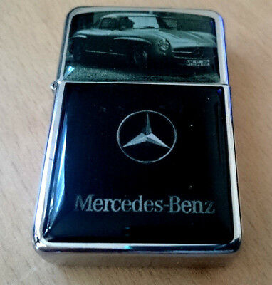 Mercedes Benz Sports Car Star Lighter Race F1 Super Germany & Extra Zippo Flints