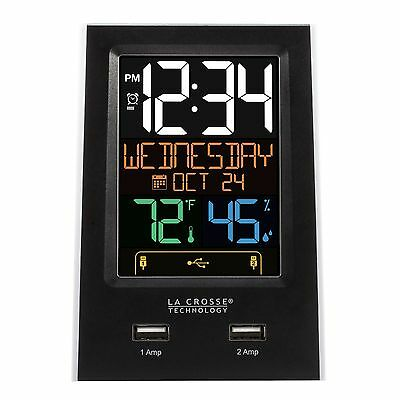 C86224 La Crosse Technology Alarm Clock with 2 USB Charging Ports - Refurbished