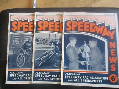 1949 Collection (27) Of 3  Of The  Speedway News  Magazine