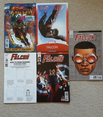 Falcon #1 Five Cover Set. Marvel Legacy
