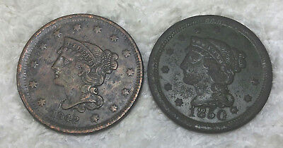 1842 and 1850 large cents - $.99 start