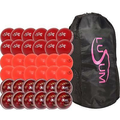 Lusum Cricket Coaching Pack Containing 36 x Balls and a Heavy Duty Duffle Bag