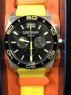 Watch Locman Stealth Sea Ref212 Steel/Rubber Yellow Discounted New