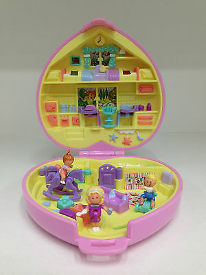 POLLY POCKET 1994 Perfect Playroom **COMPLETE w/ GOLD LOGO VISIBLE**