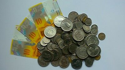 Switzerland Collection / Bulk / Job Lot Coins & notes 120 francs