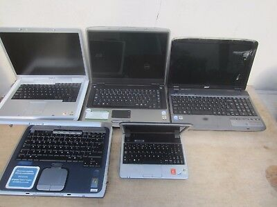 JOB LOT OF 5  Laptops Clearance Finds Spares or Repair