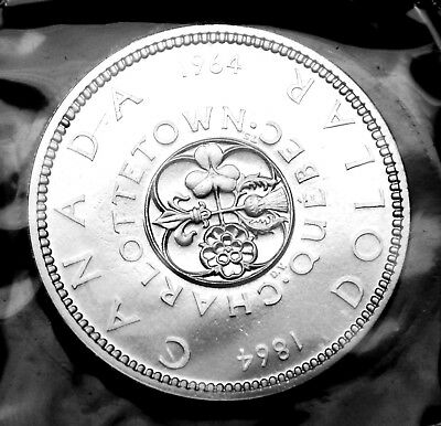 1964 Canadian silver $1 coin:  gorgeous prooflike in original mint plio