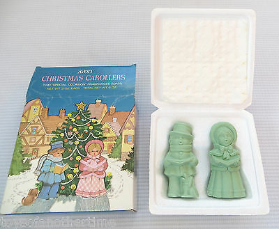Vintage Avon Christmas Carolers Carollers Figure Soap in Box Mid-Century Scented