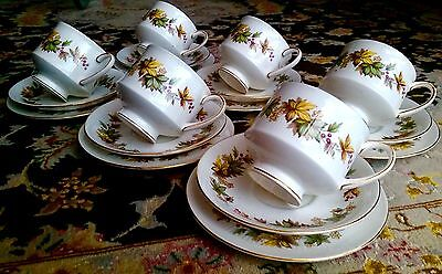 "Vintage 19 Piece Royal Standard ""Lyndale"" English Bone China Tea Set"