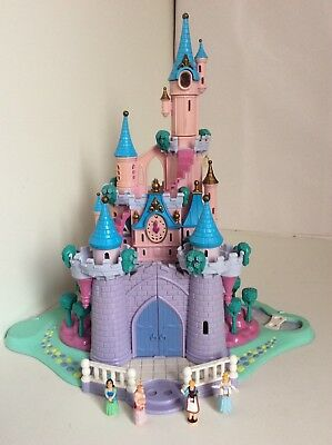 Vintage Polly Pocket DISNEY 1995 THE CINDERELLA ENCHANTED CASTLE 4 Figures